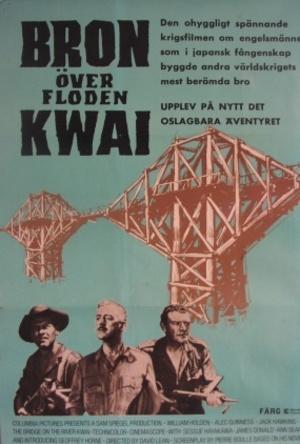 Bron över floden Kwai poster