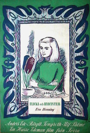 Flicka och hyacinter poster