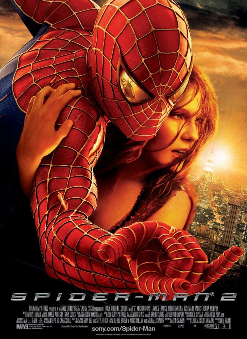 Medium original spider man 2 poster
