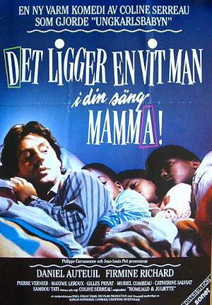 Det ligger en vit man i din säng, mamma! poster