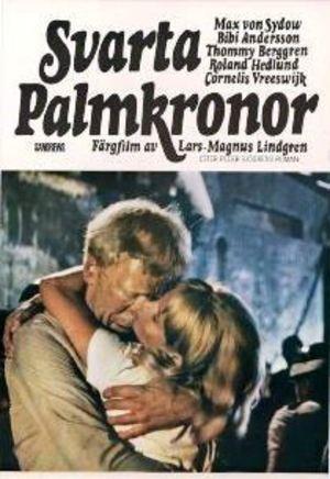 Svarta palmkronor poster