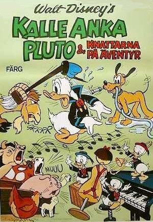 Kalle Anka, Pluto och Knattarna på äventyr poster