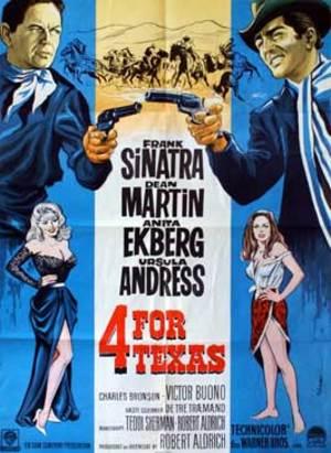 Fyra för Texas poster