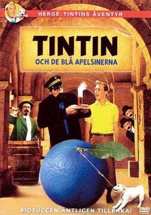 Tintin i mysteriet med de blå apelsinerna poster