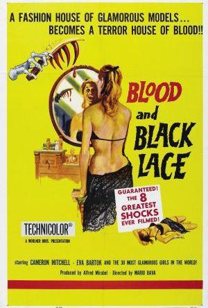Blod och svarta spetsar poster