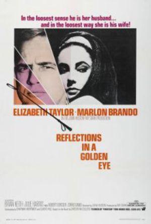 Reflexer i ett gyllene öga poster