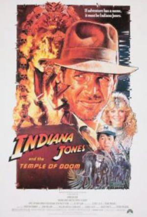 Indiana Jones och de fördömdas tempel poster