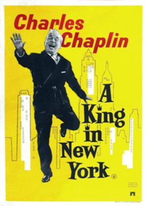 En kung i New York poster