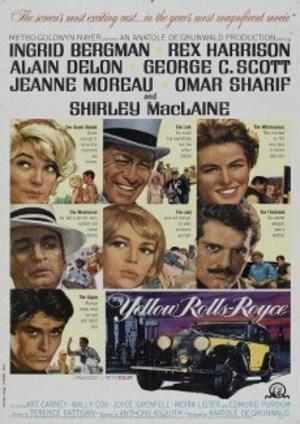Den gula Rolls-roycen poster