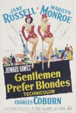 Herrar föredrar blondiner poster