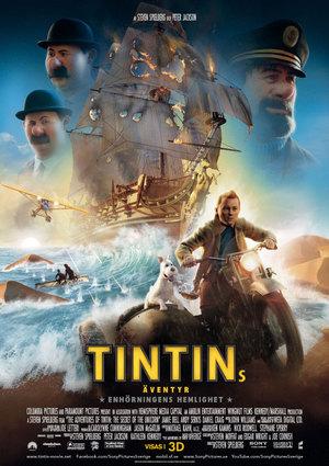 Tintins äventyr: Enhörningens hemlighet poster