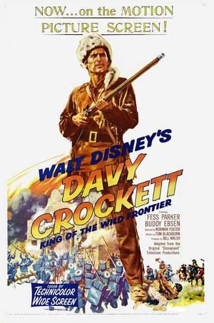 Davy Crockett - Vildmarkens hjälte poster