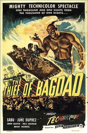 Tjuven i Bagdad poster