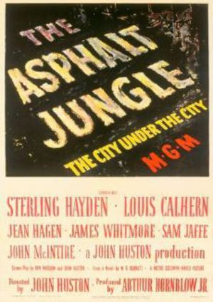 I asfaltens djungel poster