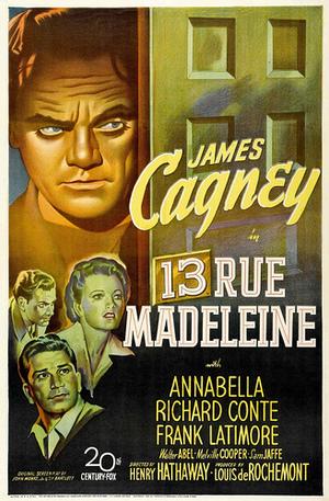 13 Rue Madeleine poster
