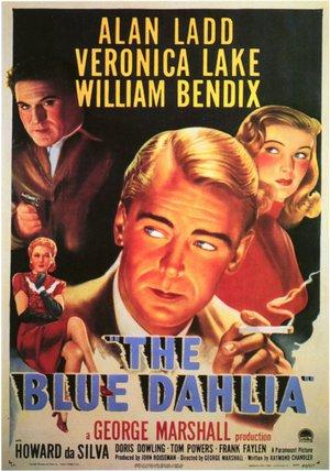 Blå dahlian poster