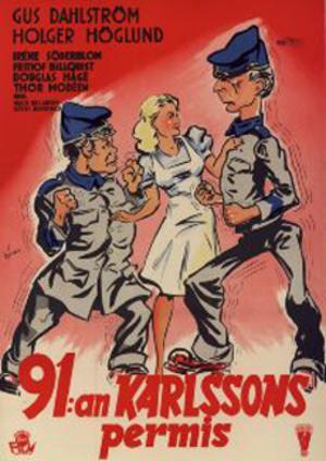 91:an Karlssons permis poster