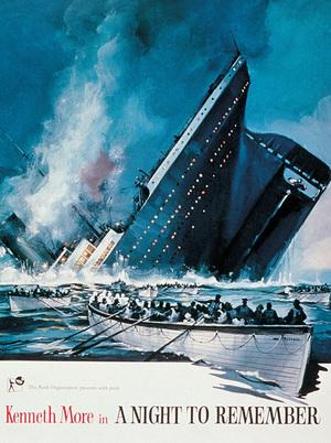 Titanics undergång poster