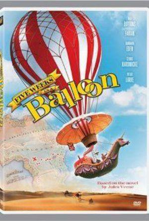 5 veckor i en ballong poster