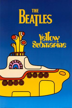 Gul, gul, gul är vår undervattningsbåt poster