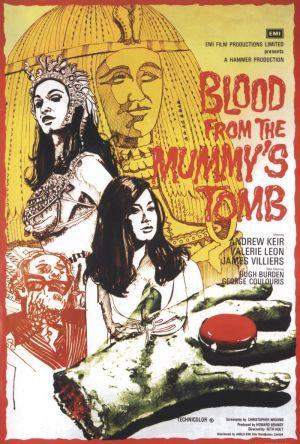 Blod från mumiens grav poster