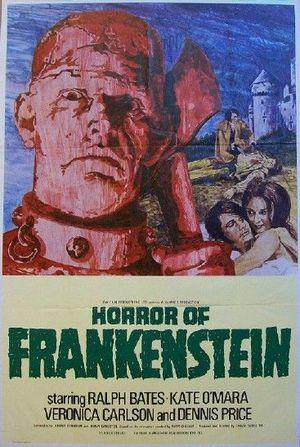 Frankensteins skräck poster
