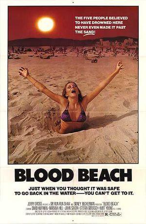 Den blodiga stranden poster