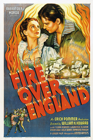 Eld över England poster